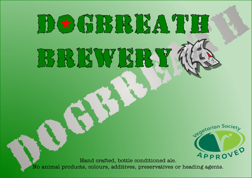 Dogbreath Brewery vegan beer approved by The Vegetarian Society
